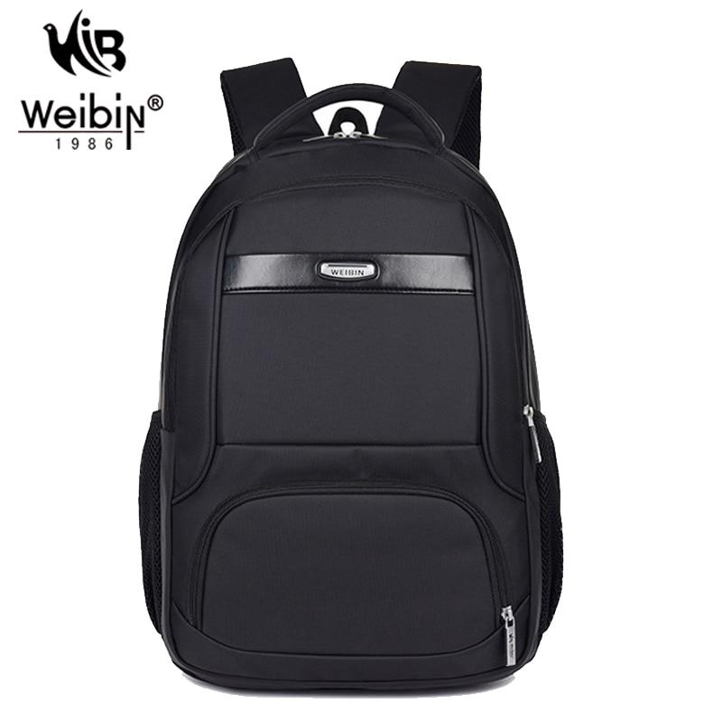 Weibin Men's Business Backpacks Men Waterproof Nylon School Backpack For Teenagers Black Travel Bags Rucksack Mochila Masculina