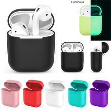 New Soft Silicone Case For Apple Airpods Shockproof Cover For Apple AirPod Cases Ultra Thin Air Pods Protector Headphone Case(China)