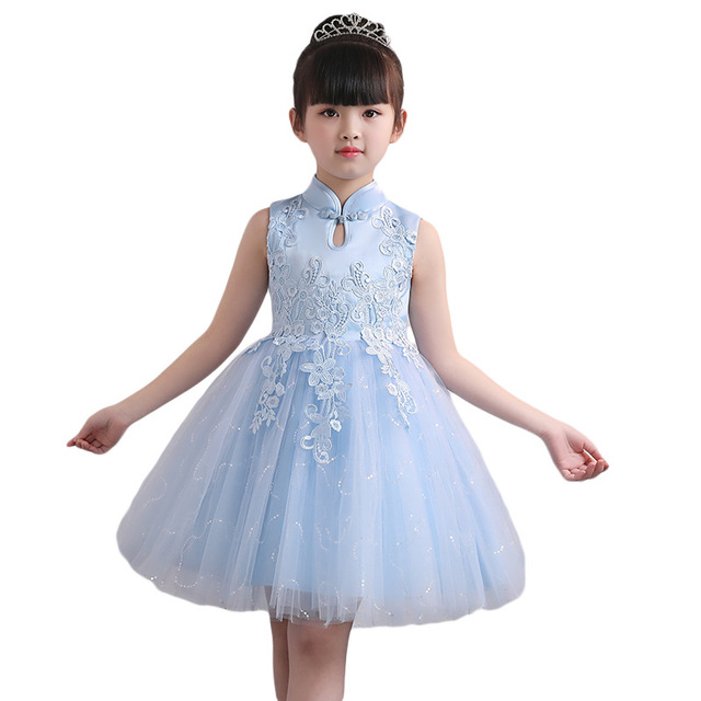 Baby Girls Princess Prom Dresses Chinese Traditional Style Kids ...