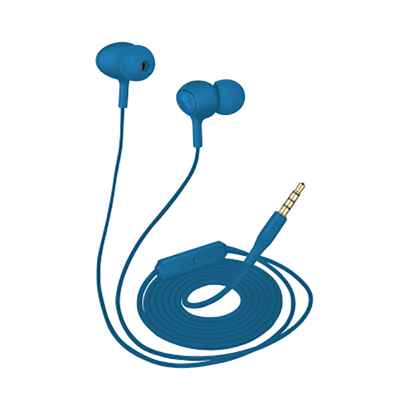 Earphones Trust Ziva Blue цена