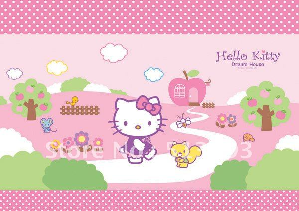 Online Shop Hello Kitty Wall Sticker Wall Paper Aliexpress Mobile - Hello kitty wall stickers