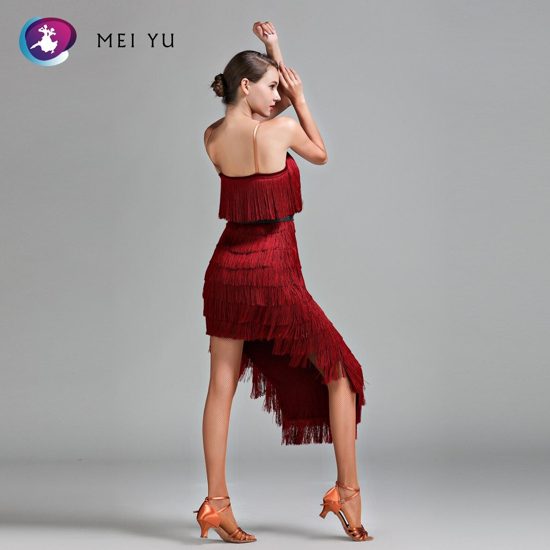 Mei Yu 1707 Latin Dans Kostuum Rumba Samba Cha Cha Dansen Jurk Vrouwen Dame Ballroom Kostuum Avond Party Dress Lace -up Riem Verlichten Van Reuma En Verkoudheid