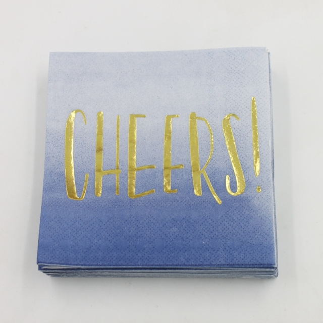 Paper Napkins with Cheers Letter