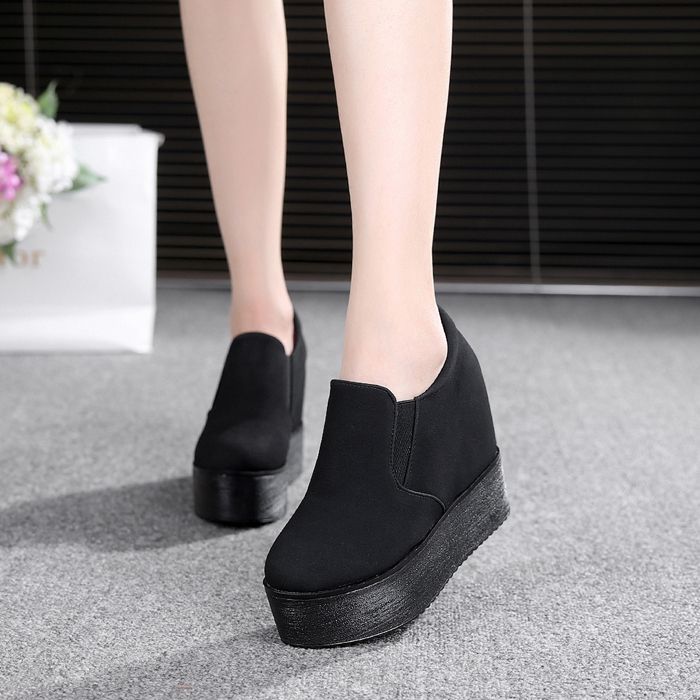 Aumento Negro white Novedad Slip Casual On Pu Mocasines 2 2 black Dropshipping white Zapatos Mujeres 2018 Pisos Creepers Altura Plataforma Señoras HqHZ0wC