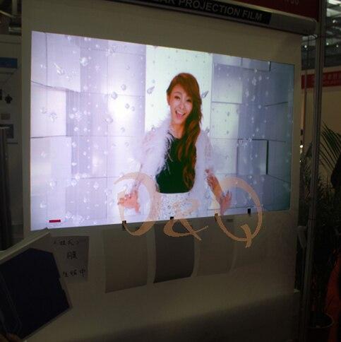 3D schermo di Proiezione Olografica Pellicola Schermo di Proiezione Posteriore Adesivo 1 metri quadrati (1.52 m * 0.65 m) 4 colori opzionale