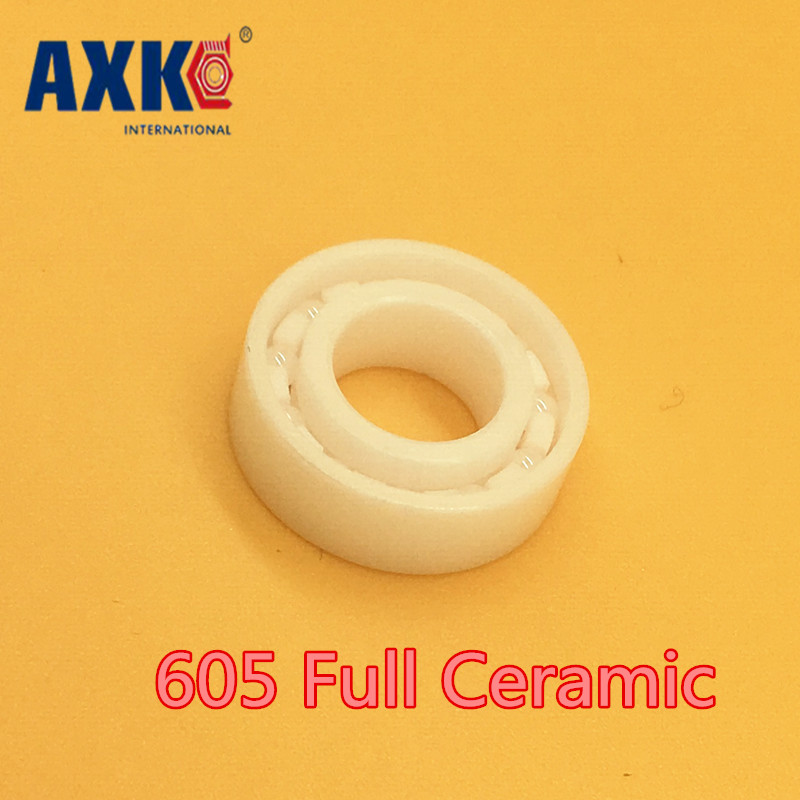 2018 New Rolamentos Rodamientos Axk 605 Full Ceramic Bearing ( 1 Pc ) 5*14*5 Mm Zro2 Material 605ce All Zirconia Ball Bearings сигнализатор поклевки hoxwell new direction k9 r9 5 1