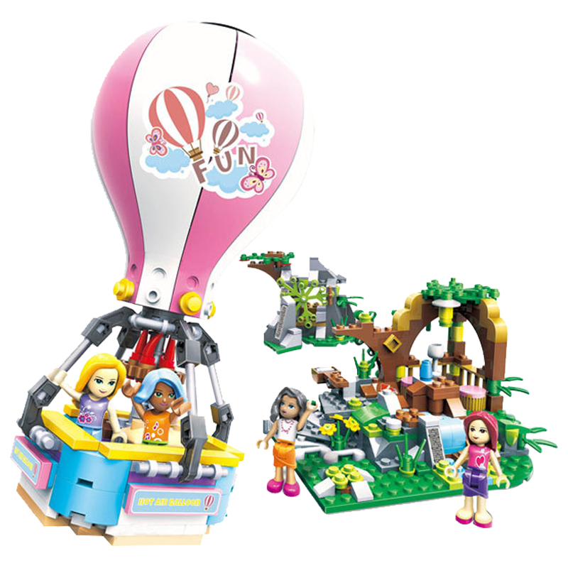 Legoing Friends Summer Holiday Fire Hot Air Balloon 415pcs Building Blocks Toys For Children Compatible With Legoings Friend Toys & Hobbies Model Building