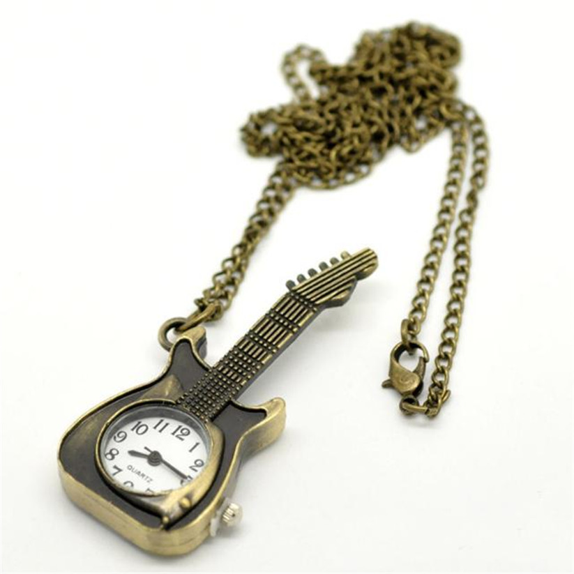 Womens mens quartz pocket watch 1 pc stylish keychain vintage watch womens mens quartz pocket watch 1 pc stylish keychain vintage watch necklace guitar shape watch pendant on chain wholesale 30m15 in pocket fob watches aloadofball Image collections