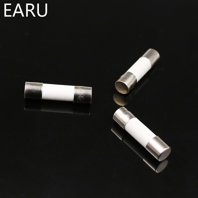 10pcs Ceramic Fuse 5mm x 20mm Slow Blow T 0.5A 1A 2A 3A 4A 5A 6A 8A 10A 13A 15A 16A 20A 30A 250V Car Cigar Microwave Oven