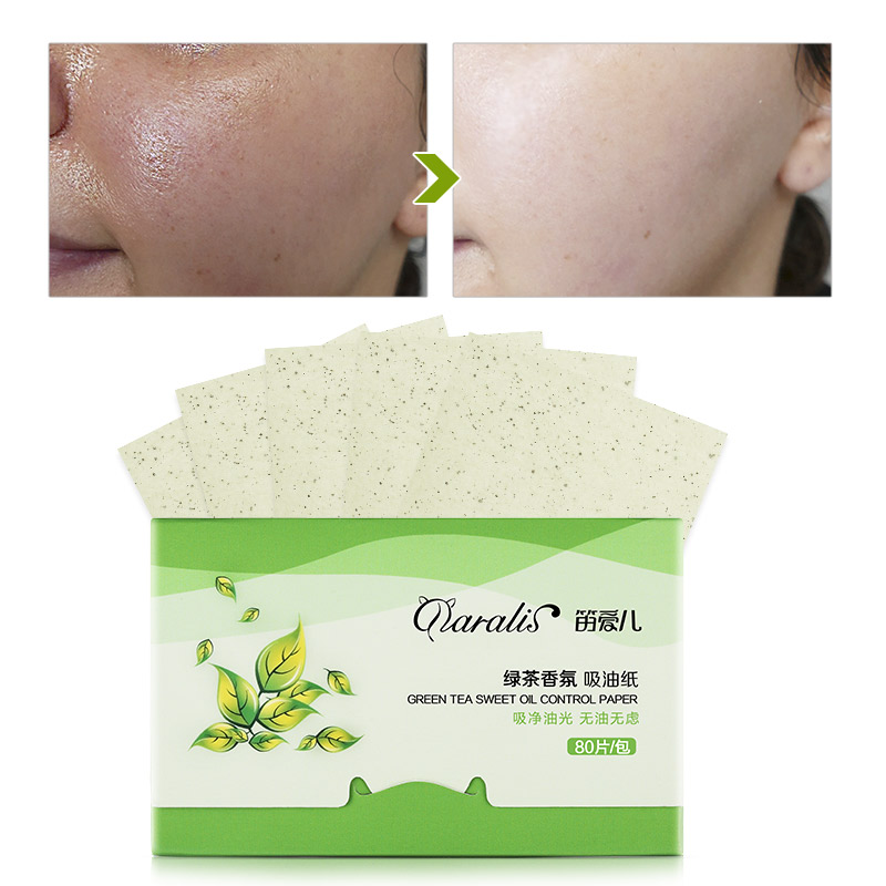3Pack 240pcs Matcha Facial Oil Blotting Paper Green Tea Oil Absorbing Papers Oil Control Facial Wipes Facial Cleanser Face Tool
