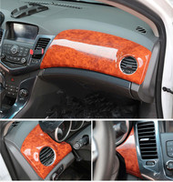 Имитация дерева карбин волокна центральной консоли Украшенные рамка для кондиционера Крышка для Chevrolet Cruze 2009, 10, 11, 12, 13, 14, 2015 AAA078A