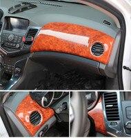 Имитация дерева карбин Fibre центральной консоли оформлен Воздушные выпускная рама крышка для Chevrolet Cruze 2009 10 11 12 13 14 2015 AAA078A