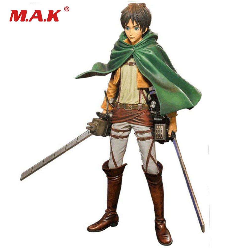 26cm Attack on Titan Anime Figure The Ellen Yeager With Maneuver Device Collectible Action Figure Model 25cm levi ackerman rivaille li weier soldiers attack on titan trunk standing battle edition pvc action figure model toys