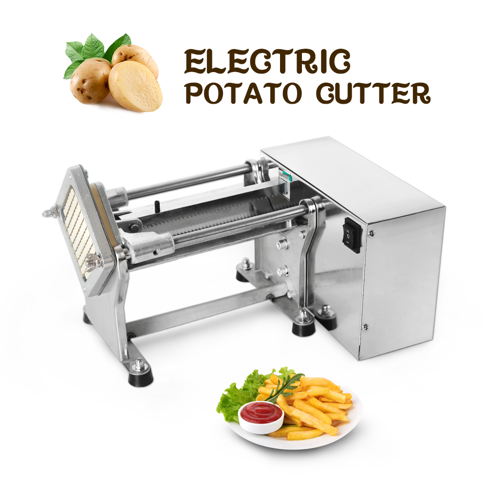 Itop Electric French Fry Cutters Commercial Potato Chip Cutter Machine Stainless Steel Vegetable Fruit Shredding Slicer