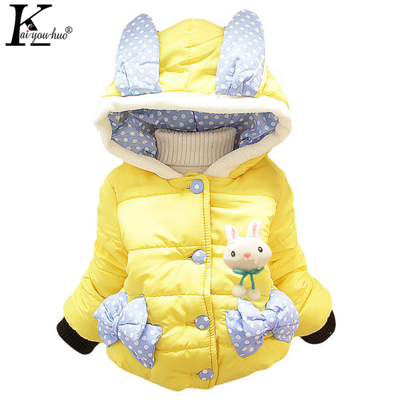 2017 Winter Baby Girls Clothes Cartoon Hooded Girls Coats Jacket Children Clothing Outerwear Coat Jackets For