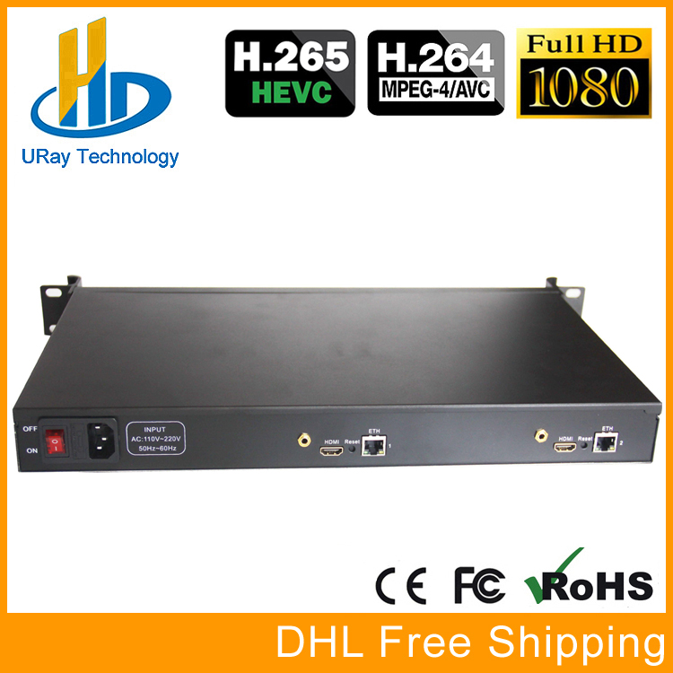 1U Rack HEVC H.265 HDMI To IP HD Video Encoder IPTV Encoder 2 Channels Live Streaming RTMP Encoder Hardware HDMI To H.264 H264 ixfk66n50q2 to 264