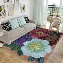 Высокое качество стерео красочные цветы высокое качество художественный ковер для гостиной спальни нескользящий напольный коврик режим кухонный ковер
