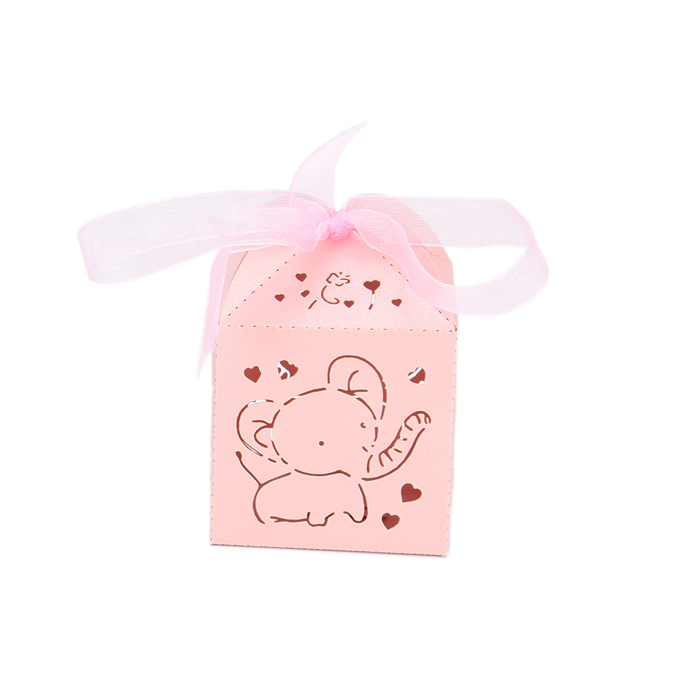 Hollow Out Fashion Elephant Pattern Candy Boxes Gift Bags Wedding ...