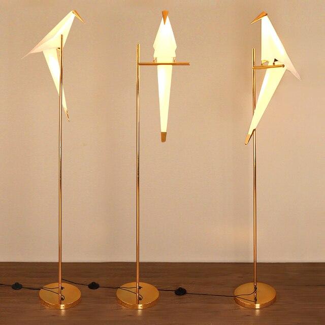 2018 modern bird lampshade golden base floor lamp light with led 2018 modern bird lampshade golden base floor lamp light with led bulbs metal lambader for living aloadofball Choice Image