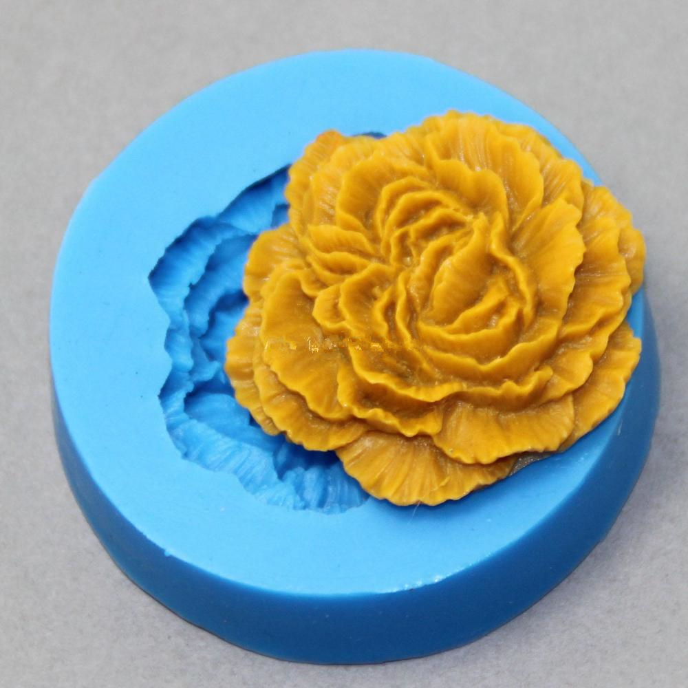 Peony Flower Silicone Molds Soap Making For Embossed Sugar Arts Flower DIY Wedding Decor Candle Wax-Resin Handmade Soap Form