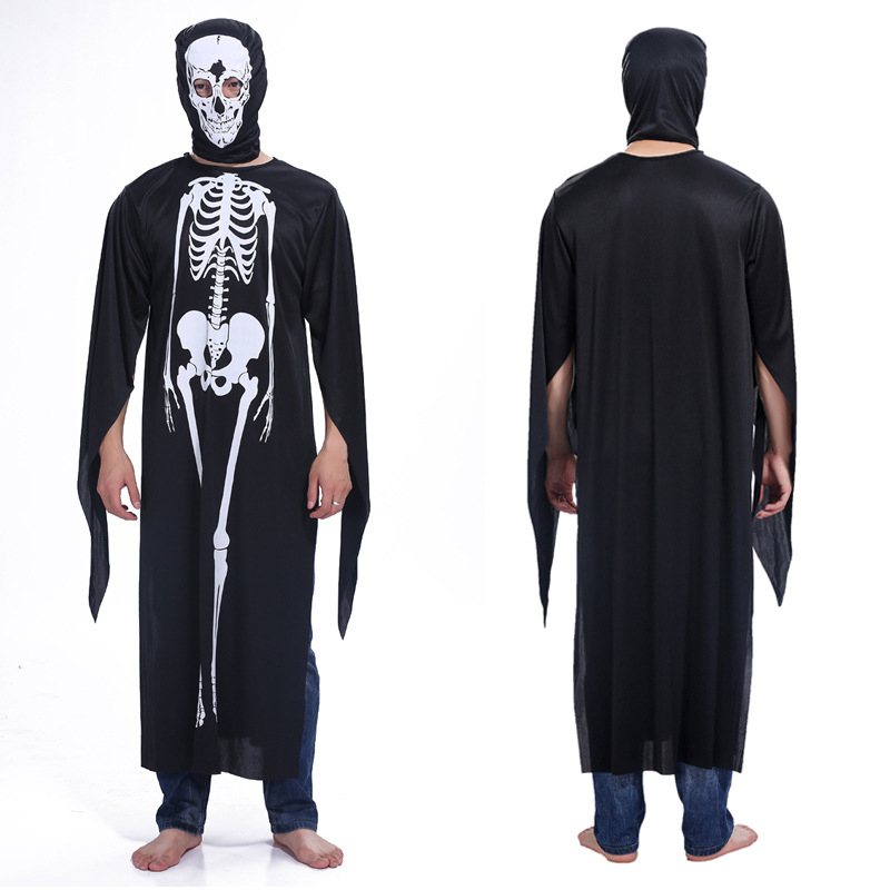 Halloween Ghost Festival plays clothing male adult horror costume party carnival  skeleton clothes goth costume horror mask