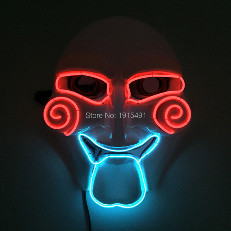 Brand Design Voice Sensitive Led Strip Terrified Witch Mask Colorful Glowing Classic Toys for Fashion Dance Performance Decor glowing sneakers usb charging shoes lights up colorful led kids luminous sneakers glowing sneakers black led shoes for boys