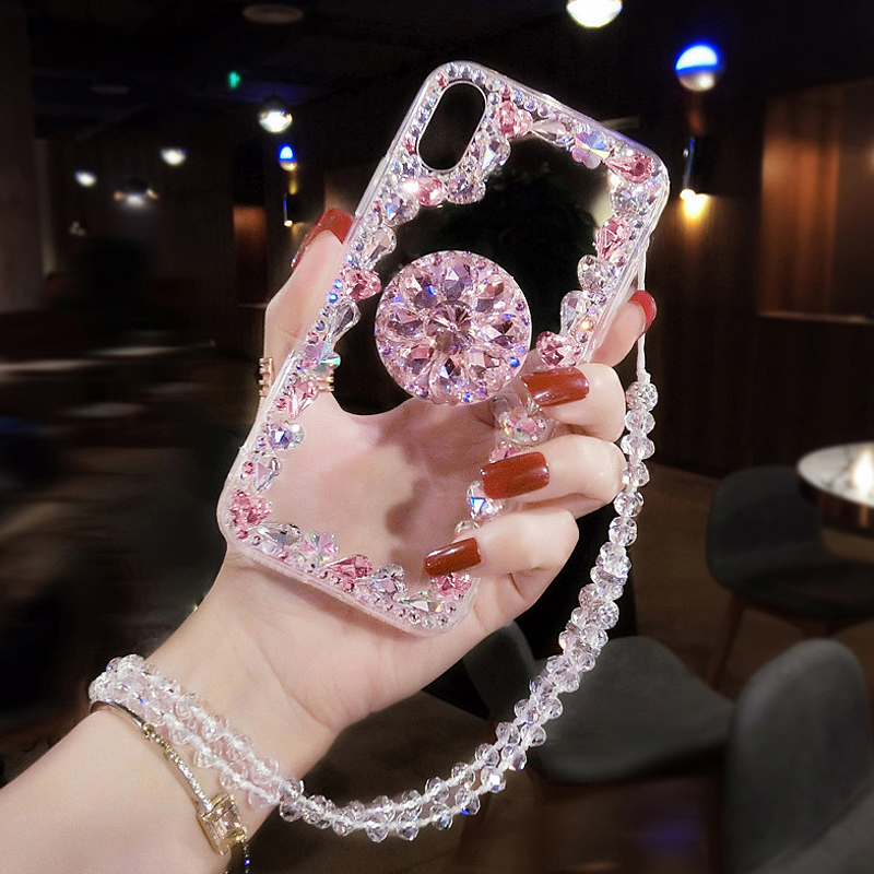 Luxury Fundas Case For <font><b>Samsung</b></font> Galaxy S10 e <font><b>Plus</b></font> S9 <font><b>S8</b></font> A50 Diamond Cover Para Mujeres Capa <font><b>De</b></font> <font><b>Celular</b></font> Carcasas Etui Estojo image
