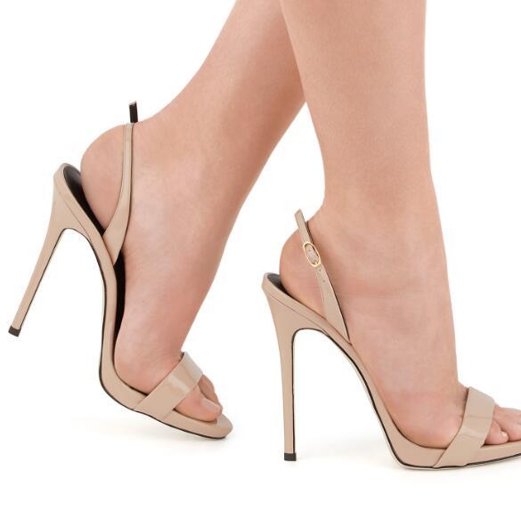 Boucles Métallique Hauts 2019 Pic Cheville Cuir De Sandales Pour Mujer Noir Chaussures Talons Nude En Mince Pic Femmes as Femme As Zapatos Gladiateur q00PCwE