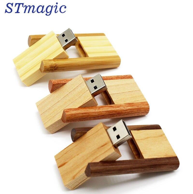 STmagic Wedding Gifts Wooden USB Flash pen Drive Walnut USB 2.0 wooden LOGO engrave usb stick