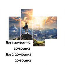 The Legend of Zelda Breath of The Wild Game New Game Wall Decor Art Silk Fabric Poster  Pictures for Living Room Painting 10-12