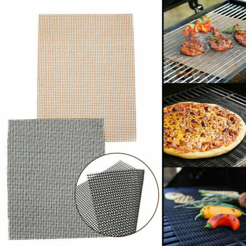 1pc 33x40cm  MINTIML GRILL MAT BBQ Grill Meshes Mat Non-Stick Cooking Sheet Liner New BBQ Accessories Гриль