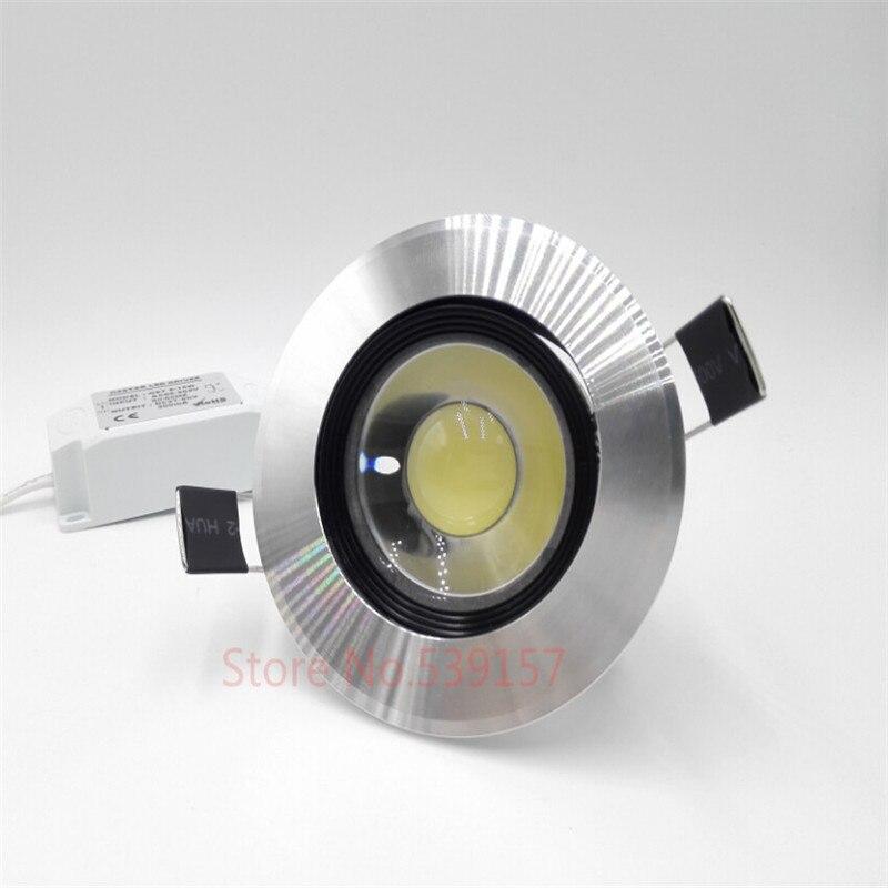 Бесплатная доставка затемнения 10 Вт теплый белый/холодный белый cob светодиодный свет вниз светодиодный утопленный свет + светодиодный драй...