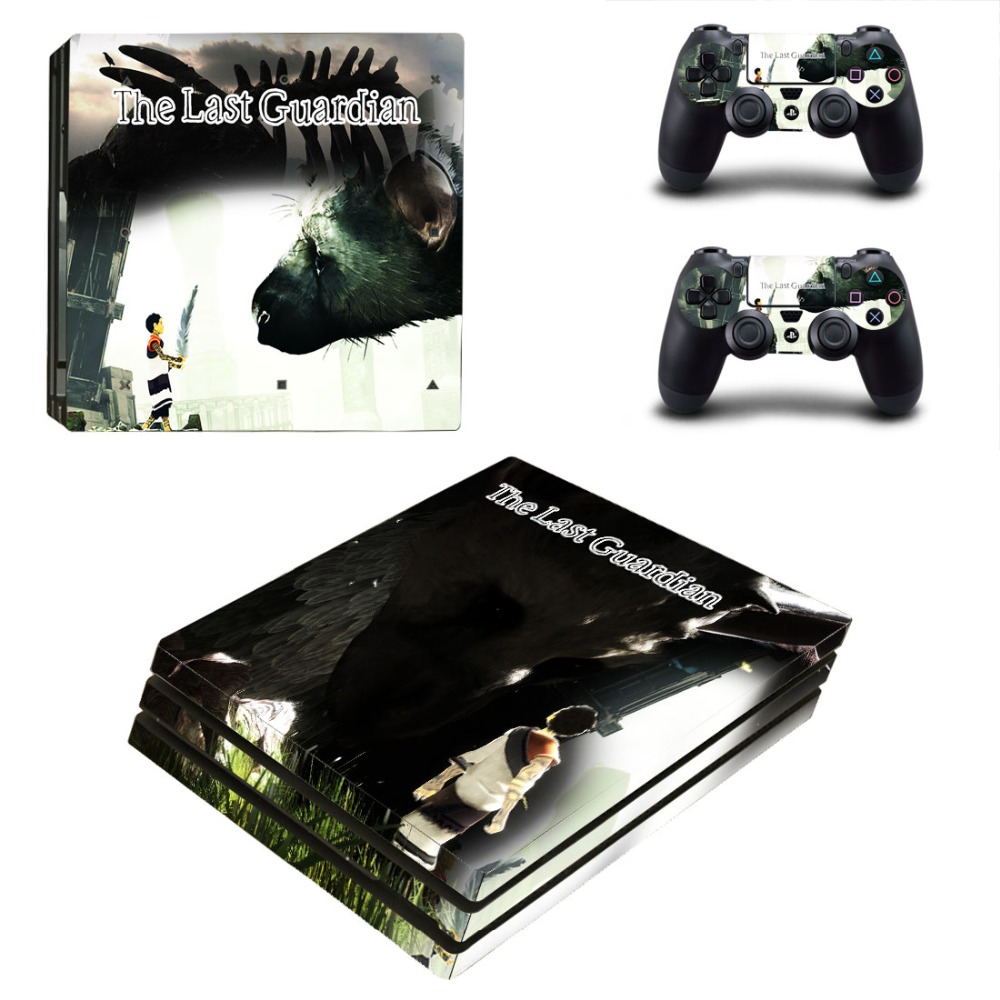 Ps4 PRO for Playstation 4 PRO Console Skin Decal Sticker + 2 Controller Skins Set (Pro Only) - The Last Guardian