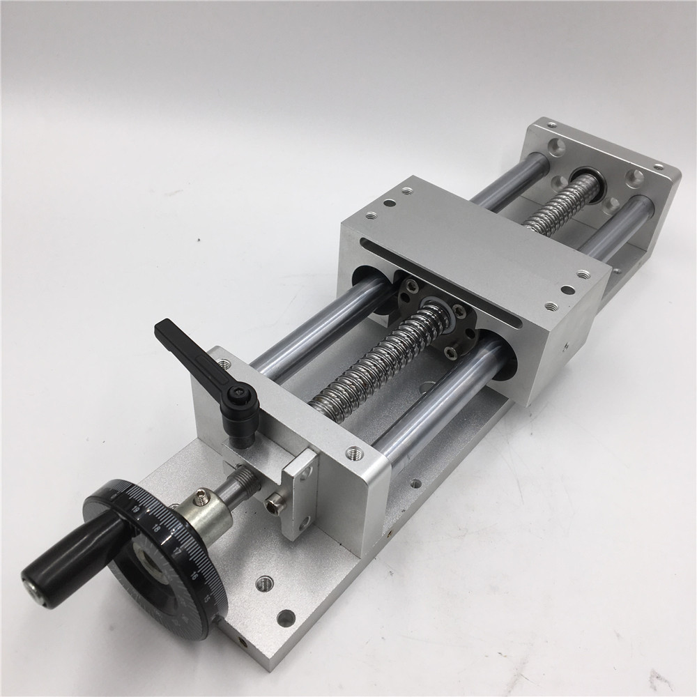 Manual Sliding Table SFU1605 Effective Stroke 100mm Linear Guides Cross Slide Table C7 Accuracy CNC Machine manual sliding table c7 ballscrew sfu1605 effective stroke 300mm cross slide table linear guides cnc machine