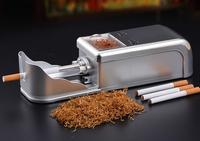 New product Electroplating Silver durable automatic electric cigarette machine DIY cigarette rolling making machine