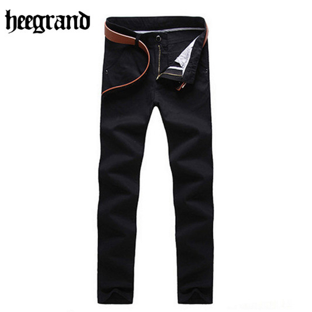 HEE GRAND 2017 Men Straight Cotton Full Length Pants More color Fashion Men Casual Pants MKX841