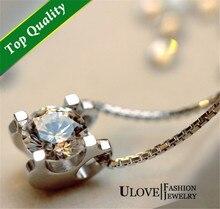 Nueva promoción de la llegada al por mayor de alta calidad de la moda antigua de blanco redondo zircon 925 collar de bodas de plata pendant choker n025