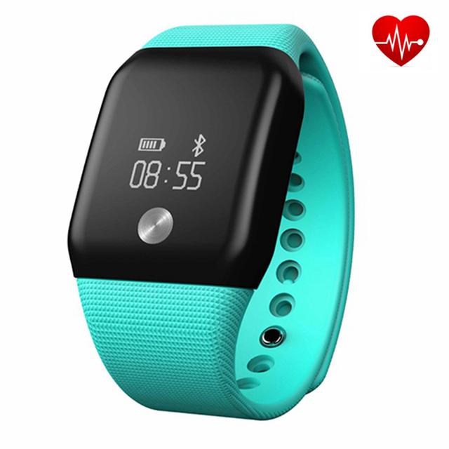 A88 + Pulseras Inteligentes Deporte Podómetro Del Ritmo Cardíaco Monitor de Fitness Tracker Monitor de Presión de Oxígeno de La Sangre Para iOS Android móviles