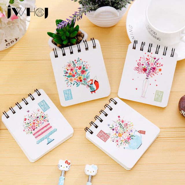 1pcs cute bouquet mini portable coil notebook diary cash book