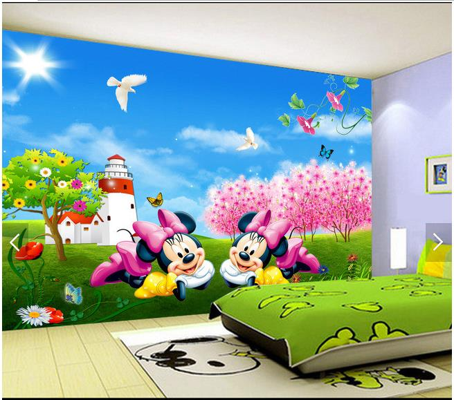 3d Wallpaper Custom 3d Wall Murals Wallpaper Cute Cartoon Mickey Mouse  Childrenu0027s Room Wall 3d Living Room Photo Wallpaper Part 68