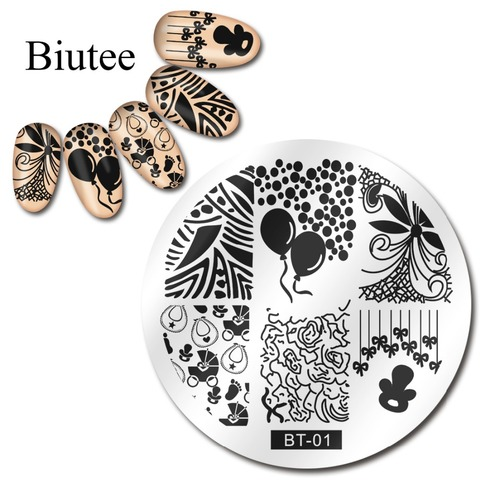 1pc 56 Designs Available Biutee Stamping Plate Lace Starfish & Shell Negative Space Leaves Flowers Animals Nail Template Karachi