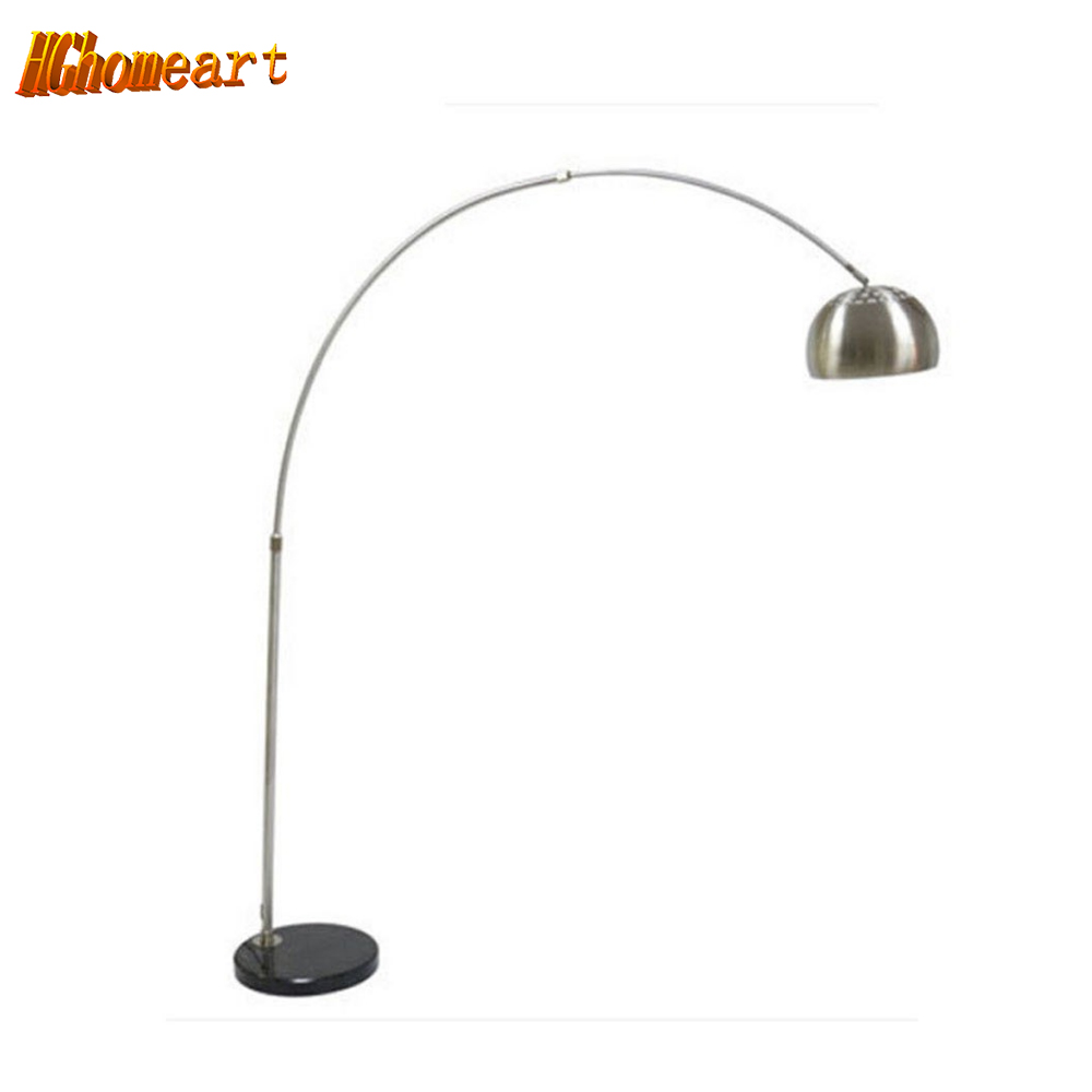 Hghomeart Modern Fishing Floor Lamp 110-220V Marble Long Arm Modern Floor Lamps for Living Room E27 Foot Switch Warranty 3 Years creative foot switch fishing floor lamps modern lighting marble atmosphere lights living room study home decorative floor lamp
