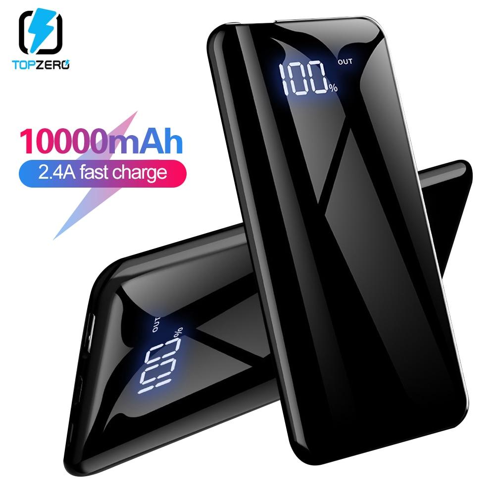 10000mah Power Bank USB C 2.4A Input LED Digital Display Battery Bank