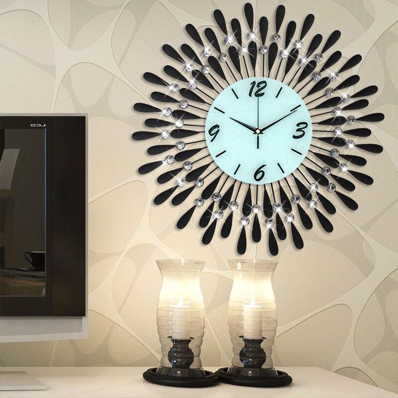 3D orologio da parete Europa creatività soggiorno orologi da parete della decorazione della casa di design Moderno minimalismo caratteristiche Al Quarzo Mute orologio da parete
