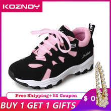 Koznoy Sneakers Women Spring Korean Version of Students Dropshipping Breathable Leisure Fashion Lace Shoes