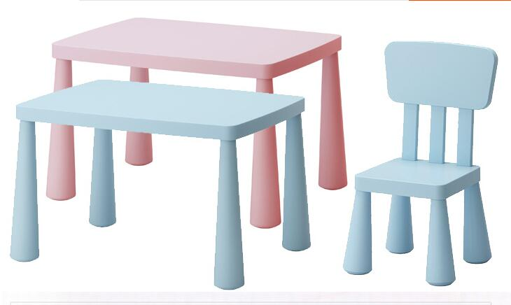 Children's Chair. The Children Study Desk And Chair. Plastic Chairs