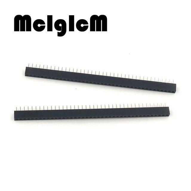 10pcs/lot 2mm pin header female 40 Pin 1x40 1*40 Female Single Row Pin Header Strip pin header Free shipping