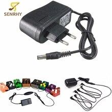 EU Plug Guitar Stompbox Power Supply EU Standard 9V 1A Guitar Effect Pedal Board Power Supply Adapter Stompbox Black New