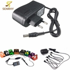 EU Plug Guitar Stompbox Power Supply EU Standard 9V 1A Guitar Effect Pedal Board Power Supply Adapter Stompbox Black New