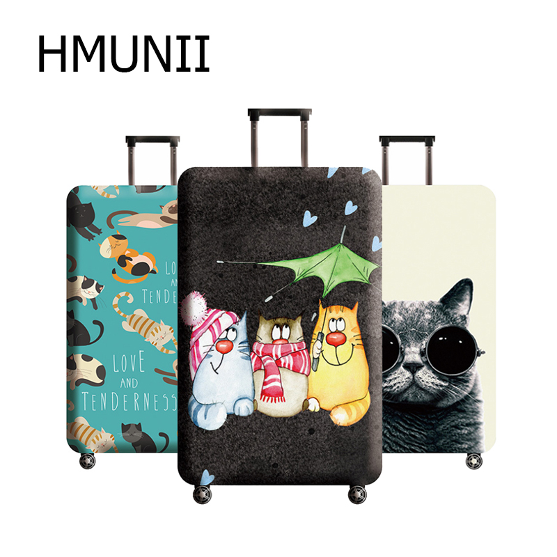 HMUNII Thicken Cute Pattern Luggage Cover 18-32 Inch Suitcase Covers Trolley Baggage Dust Protective Cover Travel Accessories